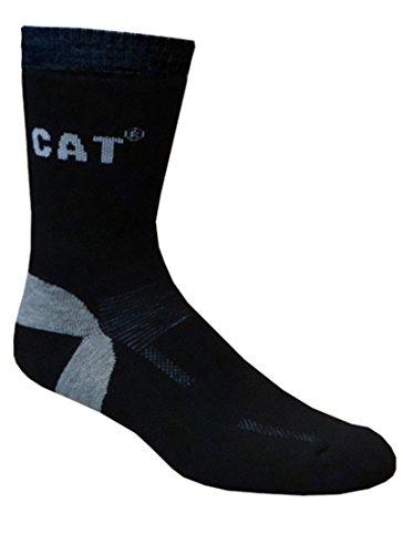 Caterpillar CAT Wollsocken,Thermo Skisocken, wahlweise in Grau oder Schwarz, in 35-38/39-42/43-46/47-50 (39-42, Schwarz)