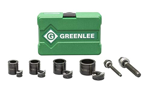 Greenlee 7235BB Knockout Kit Hole Punch Set, 10 Piece, 10, 12 ga. Steel, 1/2