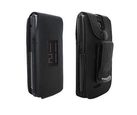 Verizon LG Exalt VN360 Case Fitted Premium Leather Case Verizon Original Swivel Belt Clip - Black - in Retail Packaging