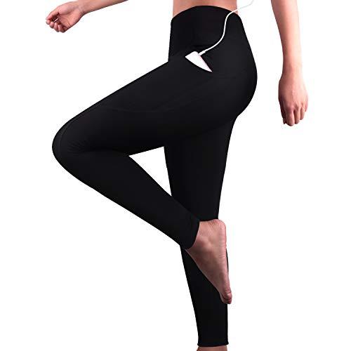 GRAT.UNIC Damen Hohe Taille Sport Leggings,Damen Sport Leggings,Yoga Sporthose mit Seitentaschen, Damen Leggings,Classics Schwarz Stretch...