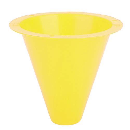 CUTULAMO Discos De La Marca del Balompié, Transporte Fácil del Cono del Entrenamiento del Fútbol del PE con Color Brillante para Los Deportes(Amarillo)