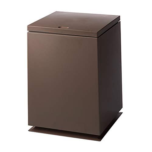 Poubelle D'intérieur Poubelle en plastique européenne peut rectangulaire avec couvercle boîte de rangement de salle de bain cuisine salon - étanche Corbeille à Papier de bureau Poubelles de Cuisine