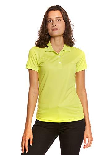 Jeff Green Damen Atmungsaktives Funktions Poloshirt Cadet, Größe - Damen:40, Farbe:Light Lime