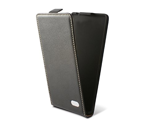 Ksix B0714FU90 - Funda con Tapa para Huawei Ascend G630, Negro