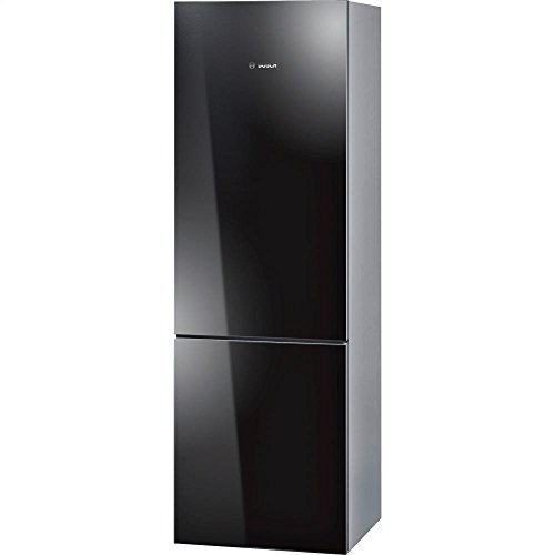 B10CB80NVB 24 800 Series Energy Star Qualified Counter Depth Bottom Freezer Refrigerator with 10 cu. ft. Capacity Spill-Proof Glass Shelves HydroFresh Drawer and Glass Door in Black