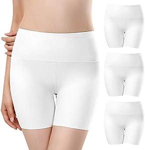UMIPUBO Bragas Mujer Sin Costura Boxer Short Leggings Cortos Basic Long Pantalon Falda Leotardos de Seguridad Ropa Interior Pack de 3