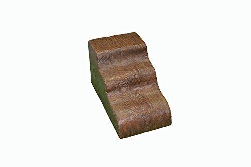 Ménsula para viga de poliuretano 30x17x18cm - Nogal Oscuro