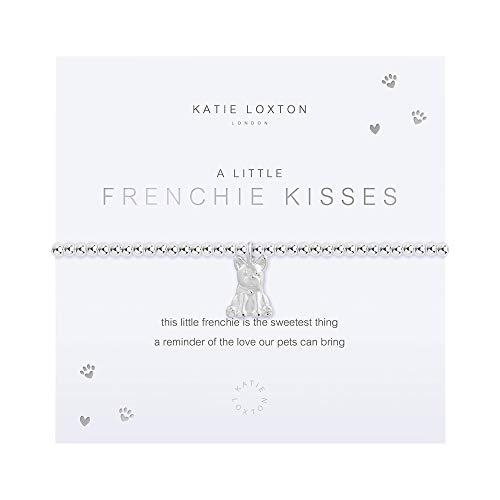 Katie Loxton a Little Frenchie Kisses Womens Stretch Adjustable Band Fashion Charm Bracelet