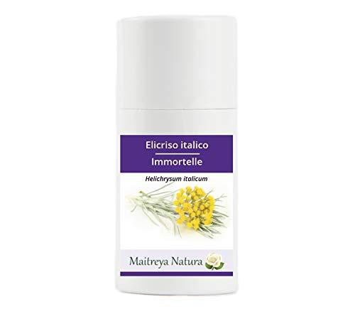 Maitreya Natura Olio Essenziale biologico ELICRISO ITALICO, 100% puro e naturale, 2ml - aromaterapia, diffusore, massaggio, cosmetica - qualità controllata e certificata, cruelty free, vegan