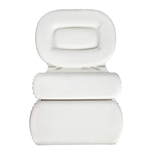 Yajun Almohada de Baño Diseño de 3 Paneles Cojín Ergonómico Impermeable para Bañera para Hombro Soporte para el Cuello para Jacuzzi Accesorios