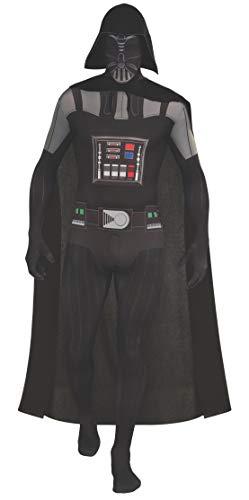 Rubie's, Costume Ufficiale da Darth Vader Second Skin per Adulti, 1,60 M/1,80 M