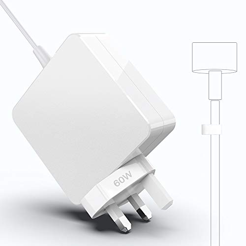 Mac Book Pro Charger, 60W 2 Power Adapter T-Tip Magnetic Connector Charger for Mac Book Pro Retina 13-inch and Mac Book Air(After Late 2012)