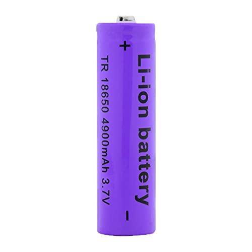 SUGGL 1pcs 18650 4900mah 3.7v Batería De Litio Recargable, para Linterna Equipo De Audio Faro Banco De Energía MicróFono Control Remoto