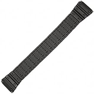 18-22mm Black PVD Painted Metal Watch Band 6 3/8