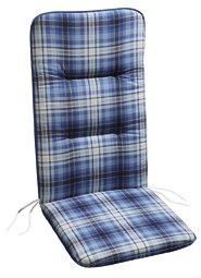 BEST 05081571 Coussin pour Chaise à Dossier Haut Bleu 80 x 43 x 5 cm