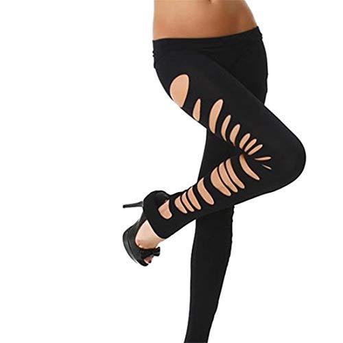 Adelina Leggings Dames Gaatjes uitgerekt lichte kleur broek hoog potloodbroek effen modieuze Completi slim fit vrijetijdsbroek broek
