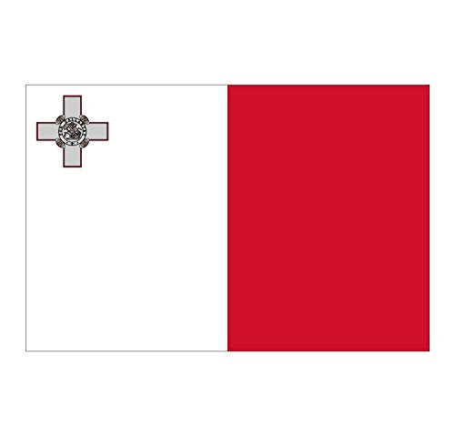 Supstick Malta Vlag Stickers 15 x 10 cm