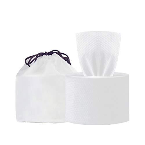 Topchances Toallitas faciales desechables, Toallas Desechables100% Algodón Tela no Tejida Extra Gruesa sin Pelusa, se puede secar y mojar (M)
