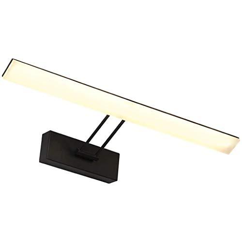 Luces De Espejo De Baño Lámpara Frontal De Espejo, Led Impermeable Y Antivaho Lámpara De Espejo De Baño Lámpara De Pared Pintura De Espejo En Blanco Y Negro Luz De Gabinete con Espejo Moderno [Clase