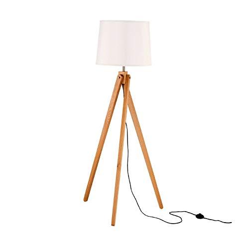 Nova Luce Alma Tripod - Lámpara de pie (diámetro de 45 cm), color blanco