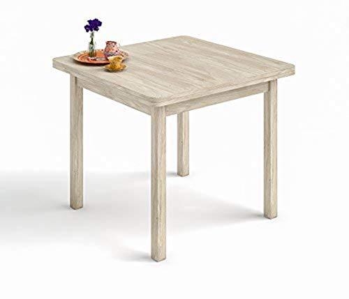 HOGAR24.ES- Mesa Cuadrada Multiusos Comedor Cocina Dimensiones 90 cm x 90 cm Extensible Libro a 180 cm x 90 cm. Color Roble Cambrian