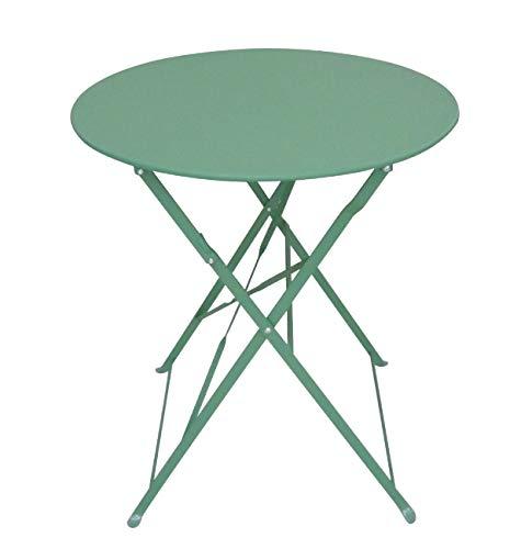 Chalet-Jardin Table de Jardin Pliante Ronde en métal BISTROT-Vert