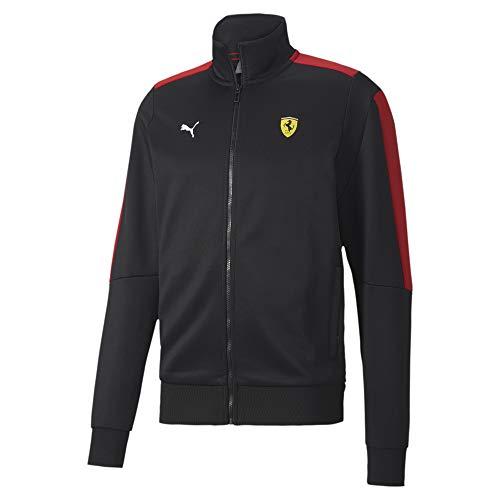 Formula 1 Scuderia Ferrari Men's Race T7 Track Jacket, Puma Black, XXL
