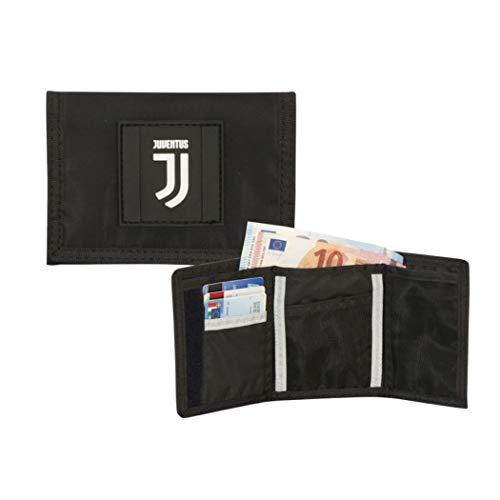 F.C. Juventus Portafoglio a Strappo Con Velcro Black And Withe Dimensioni 12x9.5 cm circa