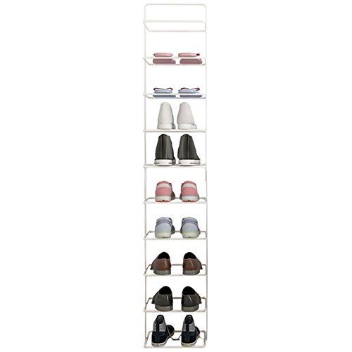 LXF Shop Organizador Zapatos Armario Mueble Zapatero Blanco Extra Alto Zapatero, Sostiene Zapatos de 10 Pares, Suelo Estrecho Organizadores de Zapatos por Sala Garaje Entrada Ahorra Espacio