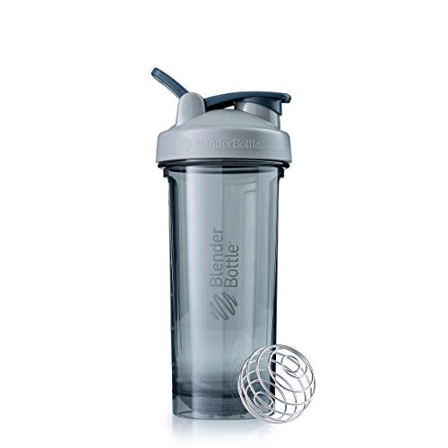 BlenderBottle Shaker Bottle Pro Series Perfect for Protein Shakes and Pre Workout, 28-Ounce, Pebble Grey