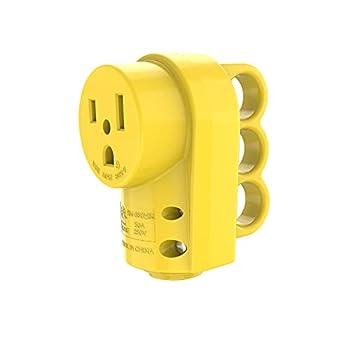RVGUARD NEMA 6-50R Receptacle 250 Volt 50 Amp Female Plug 6-50R Welder Replacement Receptacle