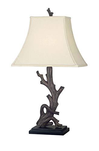 Kenroy Home 21049WDG Drift Table Lamp, 30 Inch Height, 15 Inch Width, 11 Inch Length, Wood Grain