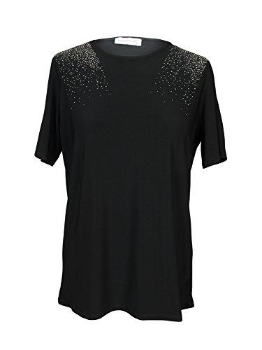Claudia Millen damska bransoletka na ramię akcesoria bluzka, czarna, rozmiar 48