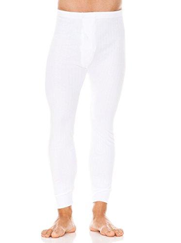 ABANDERADO Calzón Largo Termal Abierto de algodón Pantalones térmicos, Blanco, XL/56 para Hombre