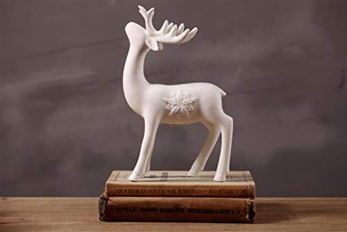 Woondecoratie Herten Standbeeld Keramiek Ambachten Amerikaanse Land Eenvoudige Creatieve Thuis Witte Herten Decoratie Raamdecoratie nieuw, B