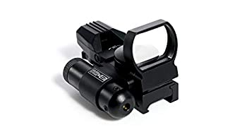 Pinty Red Dot Sight with Integrated Red Laser Sight Reflex Sight Optics 4 Pattern Reticle