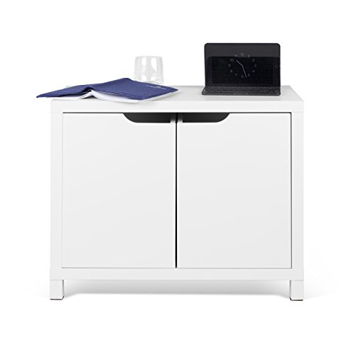 TemaHome Basic Table d'appoint 2 boîtes, Blanc (laqué Mat), 62 x 34 x 50 cm