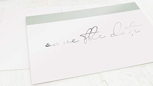 sendmoments Einladung Save the Date Hochzeit Karten, Postkarten mit Silber Veredelung, zum persönlichen Beschriften, Liebescollage, 5er Karten-Set im Querformat, optional passende C6 Umschläge