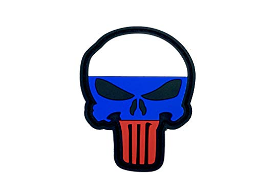 Russische Rusland Vlag Punisher Airsoft PVC patch