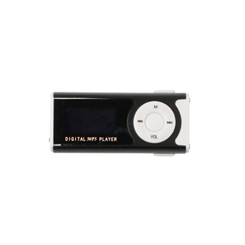 rongweiwang Reproductor de música MP3 OLED Reproductor de música de la Pantalla de visualización Recargable Recargable de música Reproducción Dispositivo portátil con Linterna, Negro