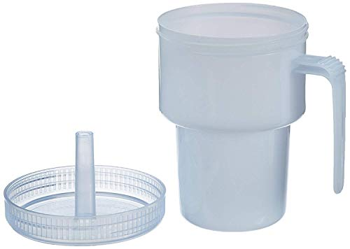 Sammons Preston Kennedy Cup, Spillproof Adult Sippy Cup with Handle And Secure Lid, 7 oz No Spill Cups to Drink Warm And Cold Liquids Lying Down