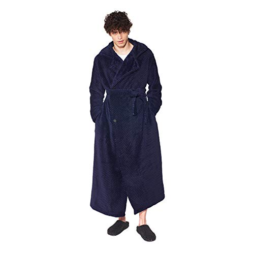 groony グルーニー 着る毛布 ルームウェア 着丈135cm ツイードネイビー
