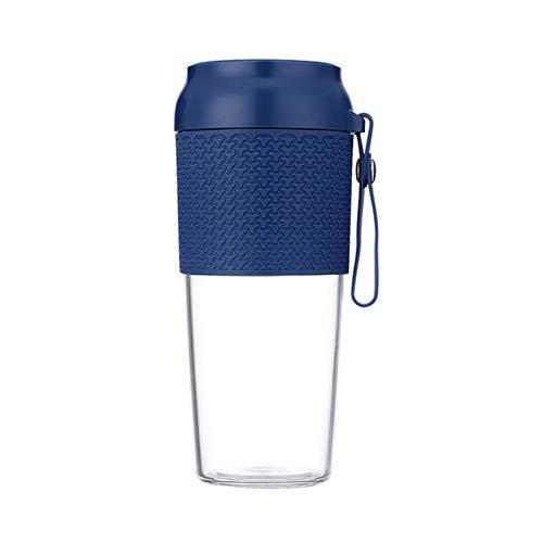 Tragbarer Mixer Smoothie Maker, Mini Standmixer mit USB Wiederaufladbare, 300ml und BPA-freie, Tragbar Entsafter Blender für Sport, Haushalt, Reise, Outdoor,Blau
