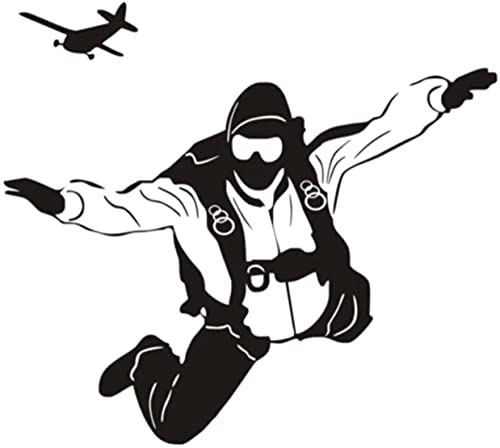 Paracaidismo fitness ejercicio etiqueta de la pared home art sticker etiqueta de la pared mural gym girl room 57X64Cm