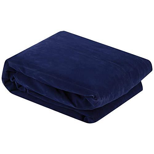 NATRUSS S-förmiger wasserdichter aufblasbarer Stuhl Luftliege, aufblasbare Couch, für Reisen im Freien Camping(Blue)