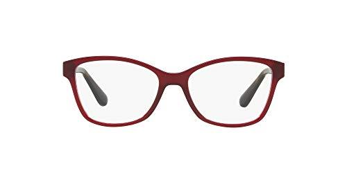 VO2998 - Marco de gafas de ojo de gato, color rojo opaco, lente demostración, 52 mm