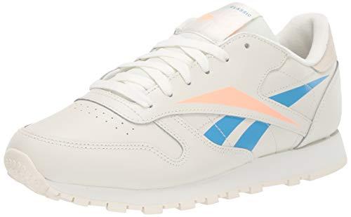 Reebok Klassische Damen-Sneaker aus Leder., Wei� (Kreide/Cremeweiß/Sonnenbrille), 37 EU