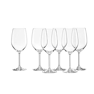 Lenox 887610 Tuscany Classics White Wine Glasses, Buy 4, Get 6, 21 ounces