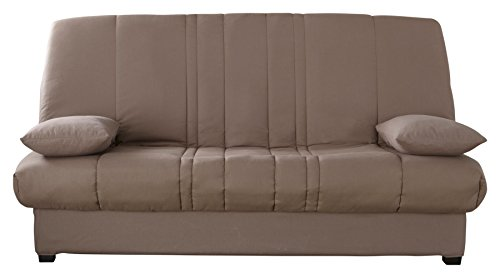 Relaxima Edwin Banquette-Lit Matelas Mousse Pillotech by Dunlopillo Taupe 194 x 98 x 102 cm