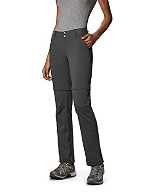 Columbia Women's Saturday Trail II Convertible Pant, Water & Stain Resistant, 4 Short, India Ink